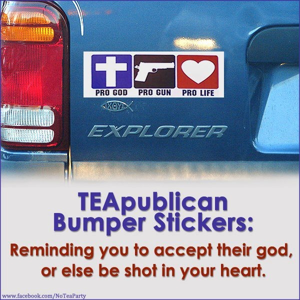 Teapublican bumper stickers