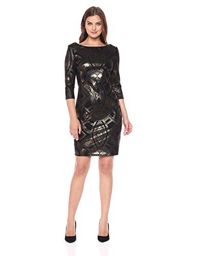 New Sangria Women's 3/4 Sleeve Metallic Party Dress online. Find the  great BEAUTYTALK Dresses from top store. Sku eszd57421tbut83398