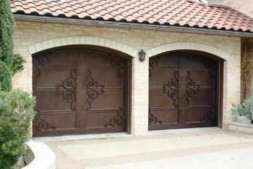 Garage Door Handtrail-58 - Wrought Iron Doors, Windows, Gates, & Railings from Cantera Doors