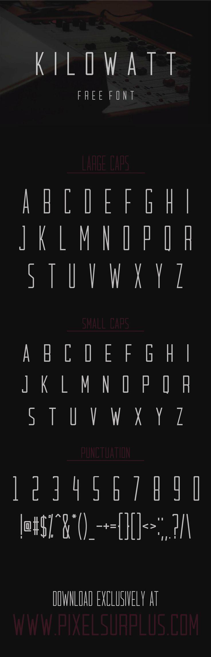 Kilowatt is a condensed all-caps sans-serif display font from Pixel Surplus.  It…