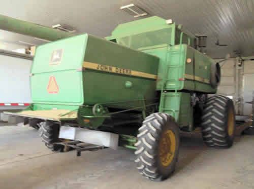 John Deere 8820 combine salvaged for used parts. Call 877-530-4430 for the best selection of used ag parts. http://www.TractorPartsASAP.com