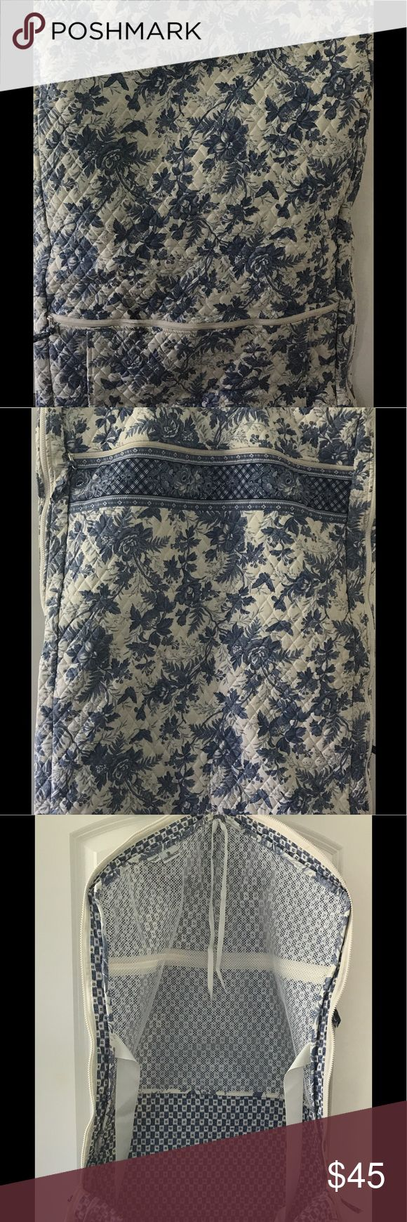 Vintage Vera Bradley Garment Bag Vintage Blue and White Toile Pattern. In good condition. A black scuff mark on one side from travel. Vera Bradley Bags Travel Bags