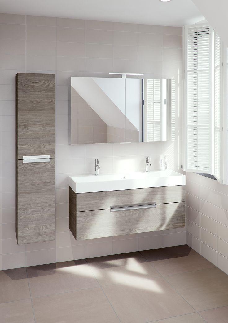 Bruynzeel mino 120 cm tortona badmeubel kolomkast for Cabinet de salle de bain