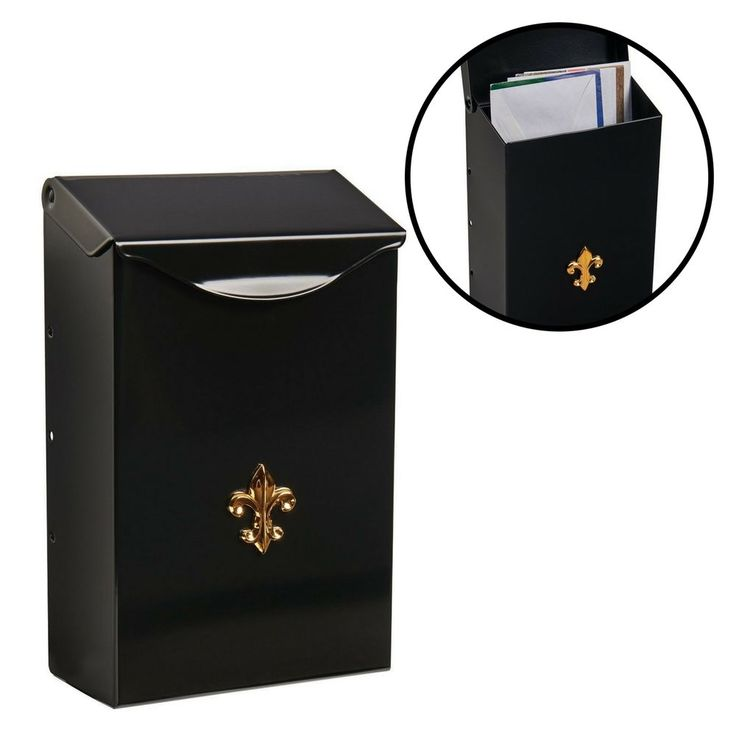 Wall Mount Mailbox Durable Small Capacity Galvanized Steel Classic Elegant Black #MountMailbox