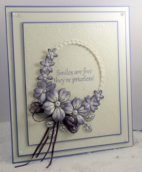Smiles are free               John Lockwood has made this elegant card, using  some of the craft dies designed by Sue Wilson, for Creative ...