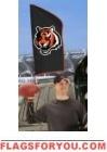 "Bengals Tailgate Flag 42"" x 20"""