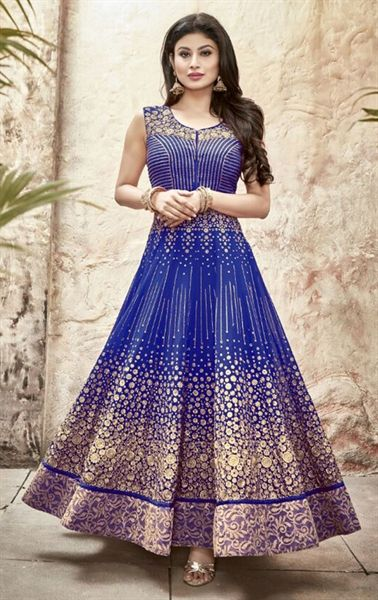 Tempting Royal Blue Anarkali Salwar Suit