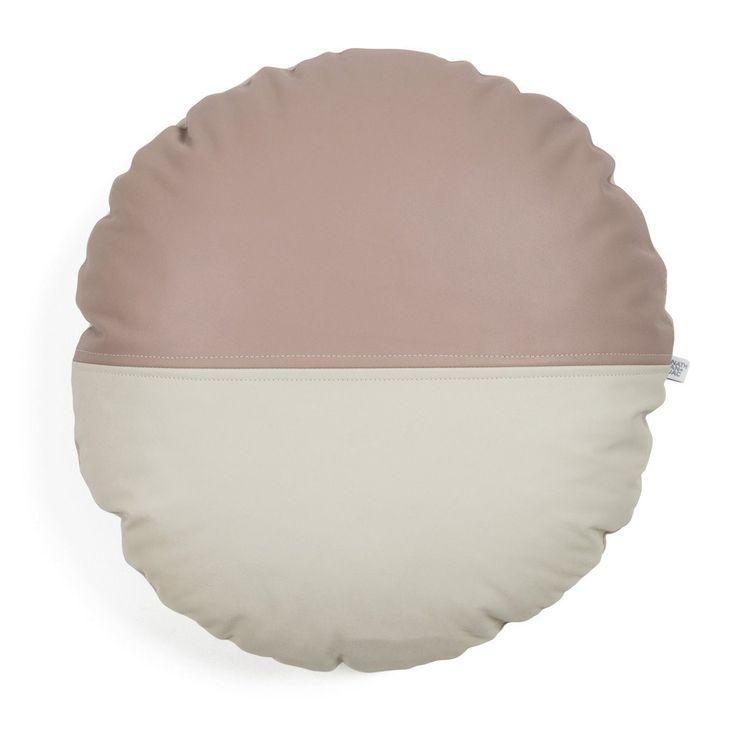 dot-blush-white-round-leather-cushion