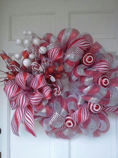 Mess candy Cane swirls ribbons