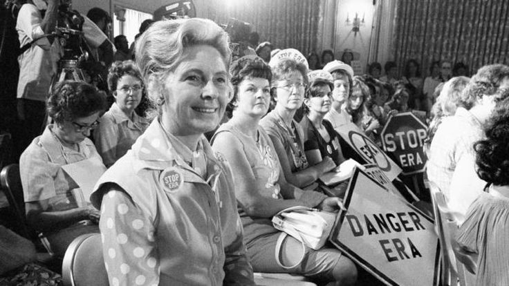 Phyllis Schlafly, national chairman of Stop ERA, in 1976. (Associated Press)