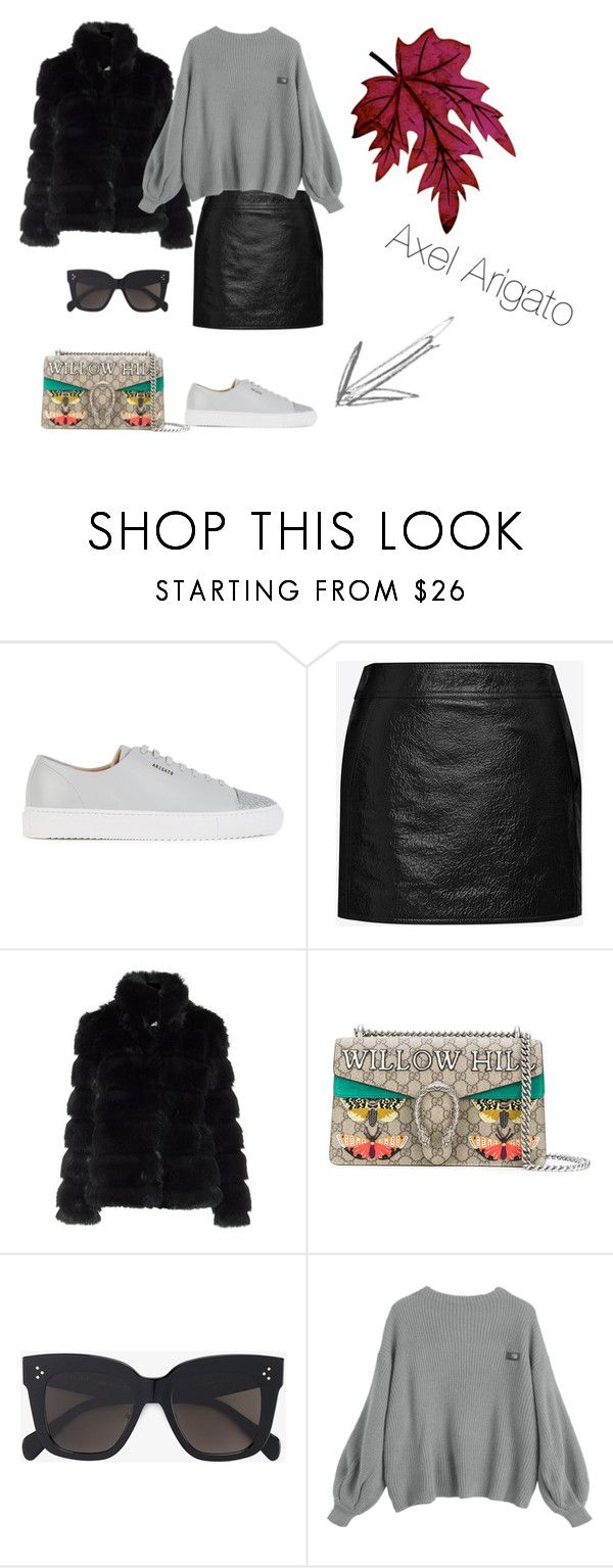 """""""Axel Arigato"""" by yasmingarcia99 on Polyvore featuring Axel Arigato, Yves Saint Laurent, Gucci and CÉLINE"""