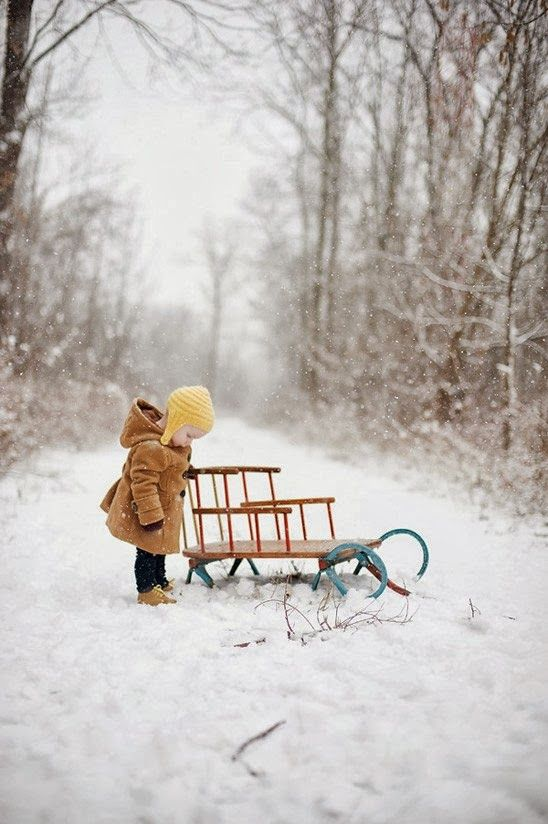 Sledding time with the tots.  The best!  The New Victorian Ruralist: Browsing for holiday inspiration...