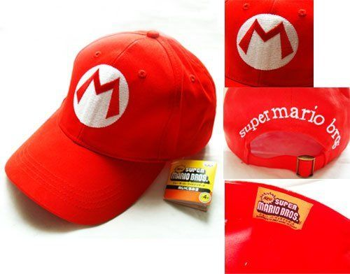 Super Mario Bros: Mario RED Baseball Cap Cosplay Party by Super Mario Bros, http://www.amazon.co.uk/dp/B009BLMA5W/ref=cm_sw_r_pi_dp_Rwjusb01M884V