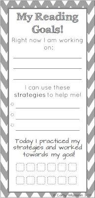 First Grade Fabulosity: Reading Goals Bookmark Freebie!
