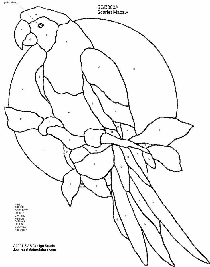 Peacock coloring page stained glass