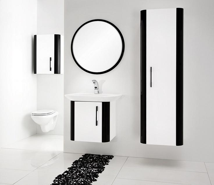 black and white - Pantone bathroom furniture collection / łazienka #bathroom #washbasin #minimalist #contemporary #white #black #furniture