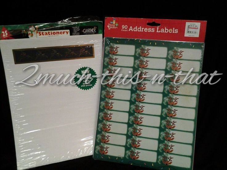 Christmas Rudoplph Personalized Return Address Labels & Stationary You Print #AngelCreekDesigns