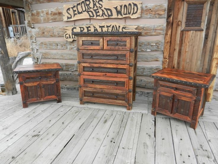 Old barn wood and rusty tin make this beautiful dresser for Old barn tin ideas