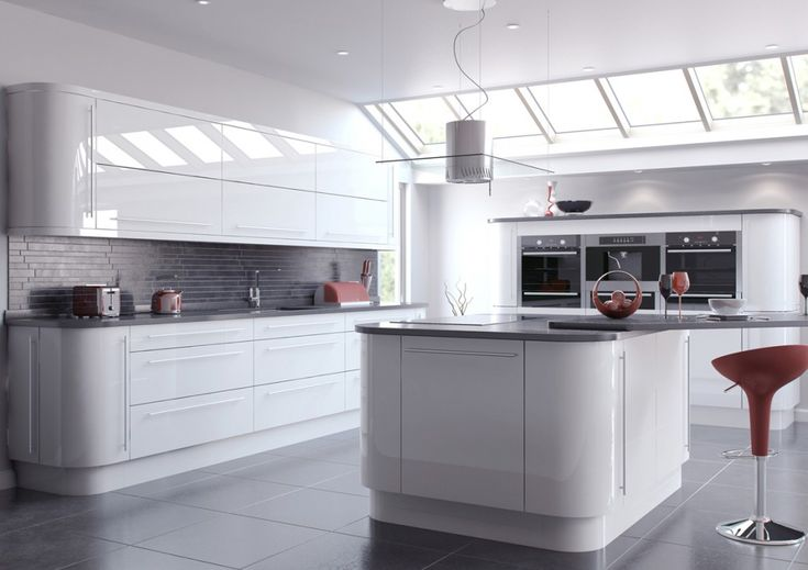 grey worktop with grey tiles splash back | Splash backs ...