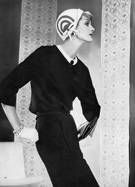 Anne St. Marie, photo by Horst, Vogue, February 15, 1958 | flickr skorver1