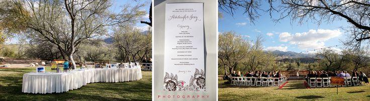 Desert wedding ceremony | Tanque Verde Guest Ranch wedding | Lori OToole Photography | Tucson Arizona wedding