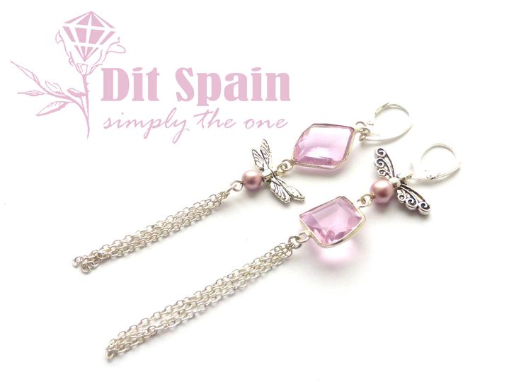 Excited to share the latest addition to my #etsy shop: Pink tassel earrings Mismatched earrings gift wife Asymmetrical earring Boho earrings Bridesmaids Earrings Pink topaz earrings