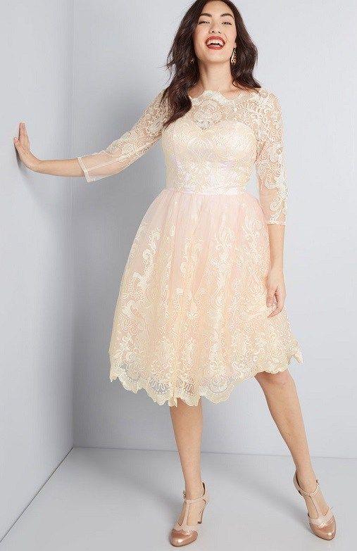 b8f830a492 Blush Pink Plus Size Dresses - Soft Pink Plus Size Dresses ...