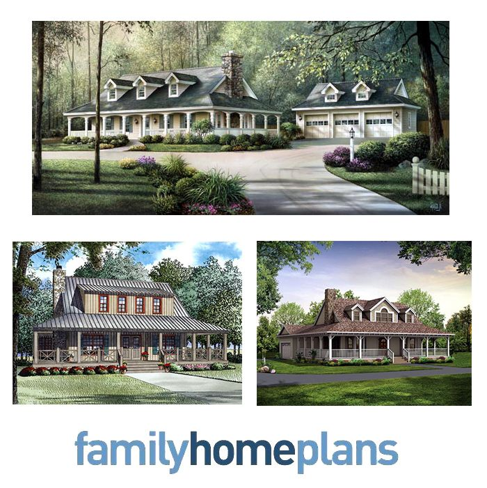 The sight of a wraparound porch evokes feelings of simple country living, and these beloved homes are found all over the country. We recommend building a house that invites your neighbors over for a relaxed conversation where you can enjoy the great outdoors. Click here to read more about our featured country homes with wraparound porches: http://blog.familyhomeplans.com/2013/11/country-home-plans-with-wraparound-porches/