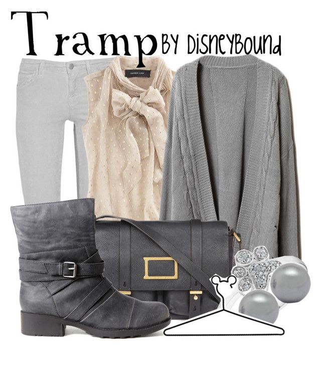 Tramp by leslieakay on Polyvore featuring polyvore, fashion, style, Derek Lam, J Brand, Neu Aura, Marc by Marc Jacobs, Simply Silver, Disney, clothing and disney