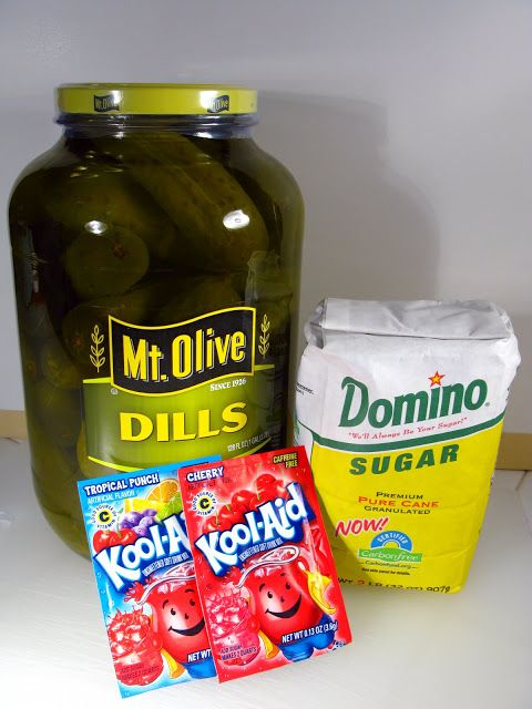 """""""Koolickles"""" (Kool-Aid Pickles) Koolickes are Simply Dill Pickles That Have Been allowed to Soak in a Strong Mix of Kool-Aid and Brine. Koolickles Combine Two Flavors, Sweet and Sour."""