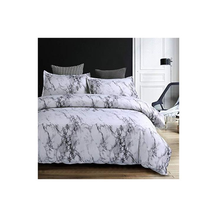 Amor Amore White Marble Comforter Gray Grey And White Comforter Set Super Soft Microfiber In 2020 Comforter Sets White Comforter Marble Comforter