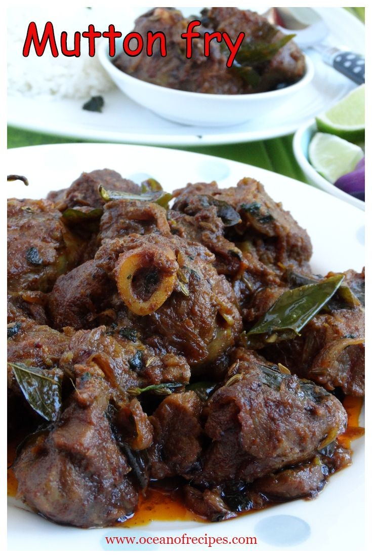 Mutton Fry South Indian Style Mitton Starter In 2019