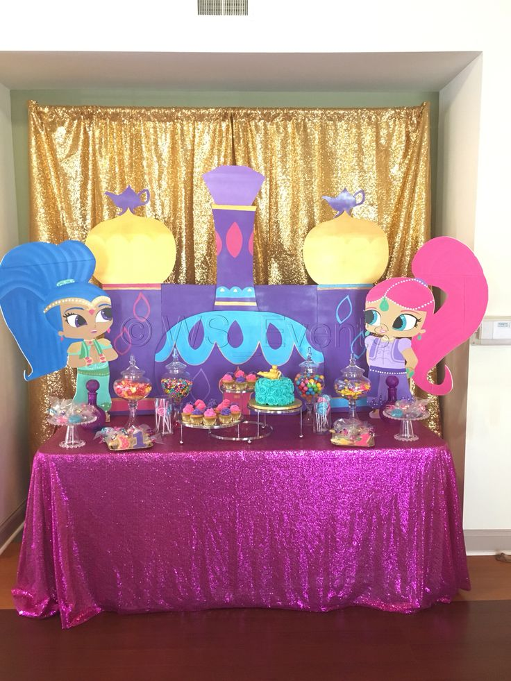Shimmer and Shine Birthday Party by WS Events