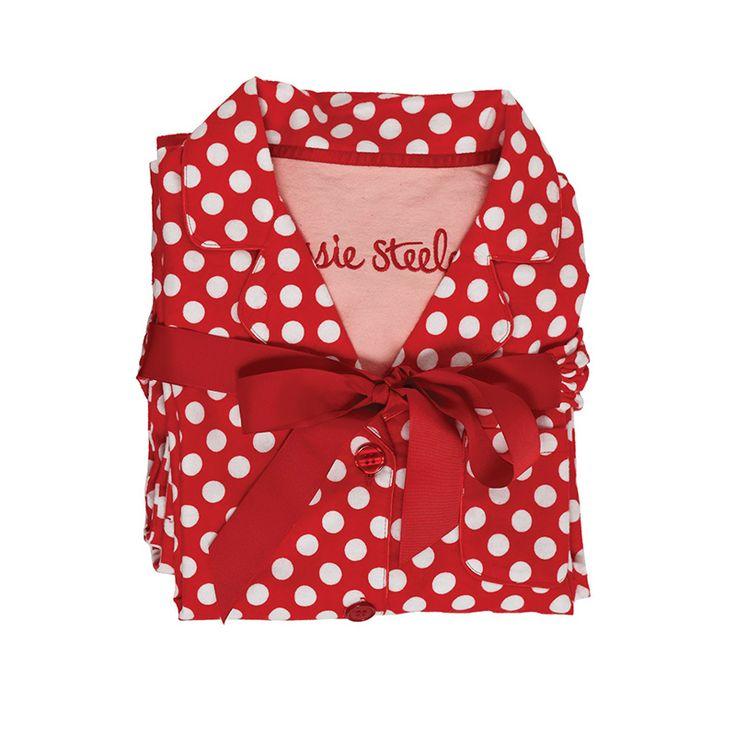 Love love love my red and white polka dot pajamas screams for Red and white polka dot decorations
