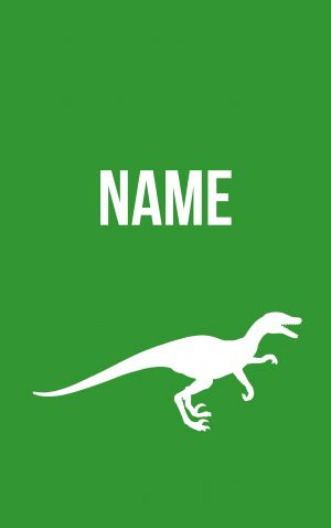 Velociraptor scariest of them all!  Personalised bag and luggage tags designed and printed in Melbourne shipped to the world.