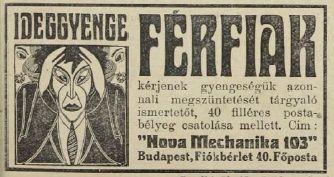 Ideggyengeség ellen. Tolnai Világlapja, 1914.09.27.