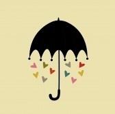 Parapluie & cœurs