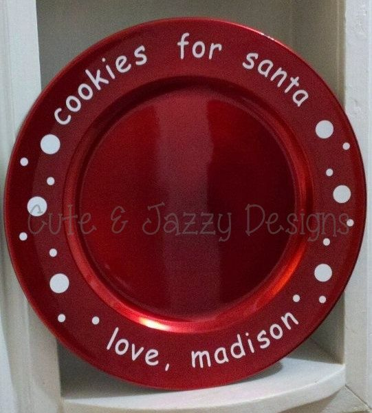 Personalized Santa Cookies Charger Plate