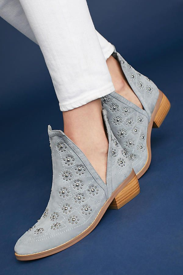 Slide View: 1: Silent D Studded Suede Boots