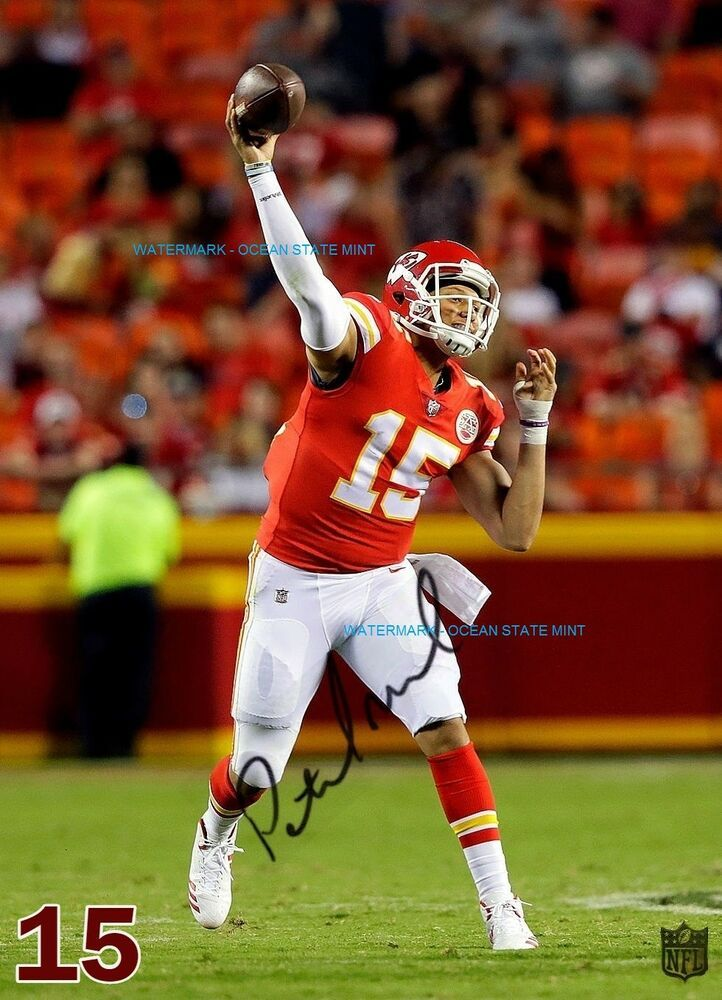 Details About Patrick Mahomes Kansas City Chiefs Signed Auto Rp 50 Nfl Superstar Photo Mm 16 Kansas City Chiefs Kansas City Chiefs Logo Kansas City Chiefs Football