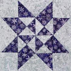 """""""Solitaire"""" block  Quilters Cache - maybe this is the perfect block for my snowflake quilt...?"""
