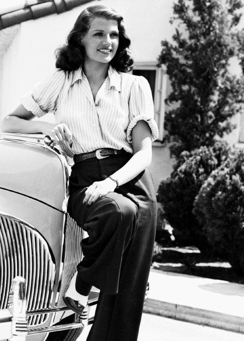 Rita Hayworth, no starlet today has this much class