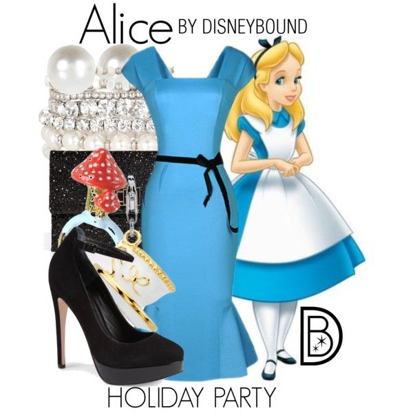 Alice by leslieakay on Polyvore featuring Carvela, Anya Hindmarch, Accessorize, Blue Nile, N2 By Les Nereides, River Island and Disney