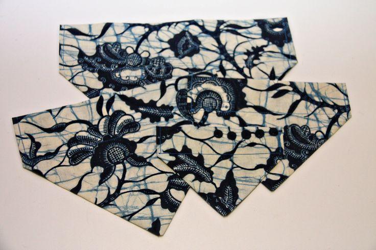 Tie Dye Floral Navy Dog Bandana, Cat Bandana, No Tie Bandana by BonzaiGiftsPetNanny on Etsy