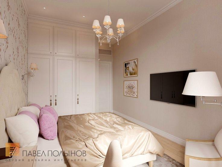 Фото интерьер спальни для гостей из проекта «Дизайн квартиры 151 кв.м. в клубном доме «DEL' ARTE», современная классика»