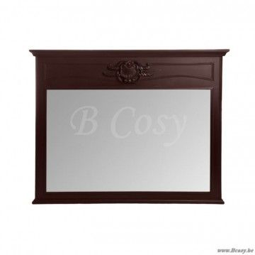 J-Line Barokke spiegel barok in bruin hout 125x100