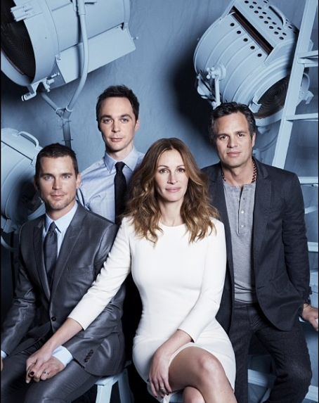 "Cast of ""The Normal Heart"" : Julia Roberts, Matt Bomer, Jim Parsons, and Mark Ruffalo. So powerful, moving, and just plain infuriating. What a tremendous tragedy."
