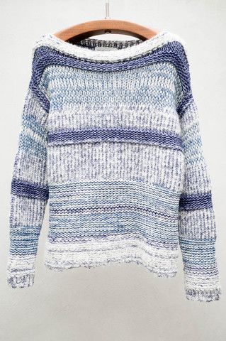Blue Knit Pit Pullover by Étoile Isabel Marant $470 - Available now at Heist