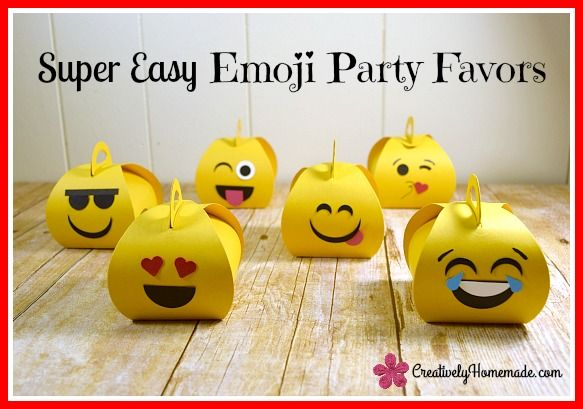 Have an emoji-obsessed kid? These emoji birthday favors are simple to make and sure to be a hit at your child's party! Learn how to make them here.
