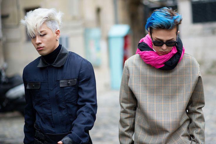Taeyang & G-Dragon - PARIS MENSWEAR STREET STYLE, PART DEUX